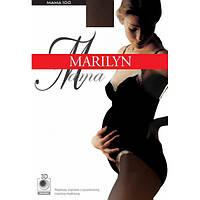 Колготы MARILYN MAMA 100 1/2 черный, черный, Плоский