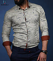 Мужская приталенная рубашка