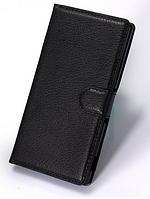 Кожаный чехол-книжка для Sony Xperia Z3 D6603, D6633 черный