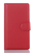 Кожаный чехол-книжка для Sony Xperia Z L36h C6602 C6603 красный