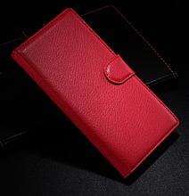 Кожаный чехол-книжка для Sony Xperia Z3 D6603, D6633 красный