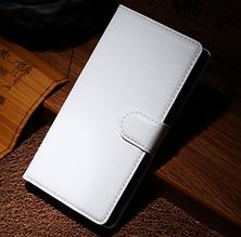 Кожаный чехол-книжка для Sony Xperia Z3 D6603, D6633 белый