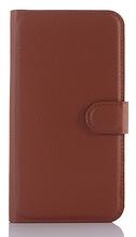 Кожаный чехол-книжка для Sony Xperia Z5 E6603 E6653 коричневый