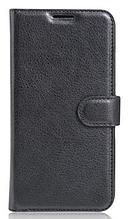 Кожаный чехол-книжка для Xiaomi Redmi 4A черный