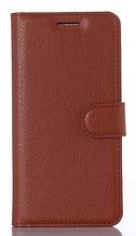 Кожаный чехол-книжка для Xiaomi Redmi 4A коричневый
