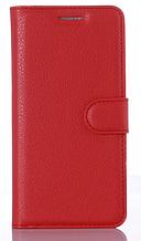 Кожаный чехол-книжка для Xiaomi Redmi 4A красный
