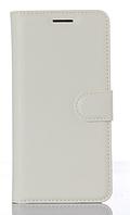 Кожаный чехол-книжка для Xiaomi Redmi 4A белый