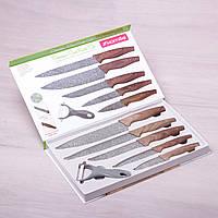 Набор кухонных ножей Kamille 6 предметов в подарочной упаковке (5 ножей+овощечистка)