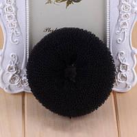 Бублик для волос L средний d 9 см черный
