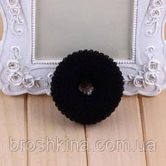 Бублик для волос S малый d  5 см черный