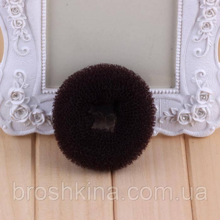 Бублик для волос S малый d  5 см коричневый