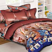 Детское постельное белье в кроватку Зверополис, ранфорс