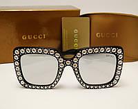Женские солнцезащитные очки Gucci 0148 Copy (цвет черный), фото 1