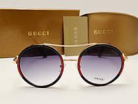 Женские солнцезащитные очки Gucci 0052 copy (цвет черно красный), фото 1