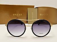 Женские солнцезащитные очки Gucci 0052 copy (цвет черный), фото 1
