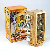 """Набор для специй на деревянной подставке (8 емкостей) Stenson """"Woody"""" (MS-0371)"""