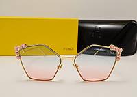 Женские солнцезащитные очки Fendi 17089 Цвет розовый градиент, фото 1