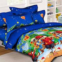 Подростковое полуторное постельное белье, Элвин и бурундуки, ранфорс 100%хлопок