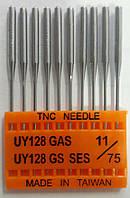 """Иглы для промышленных швейных машин """"Триумф""""UY 128 GAS SES №75/11 (уп.10шт)"""