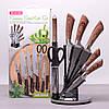 Набор кухонных ножей, ножницы и точилка Kamille 8 предметов на акриловой подставке KM-5048, фото 4