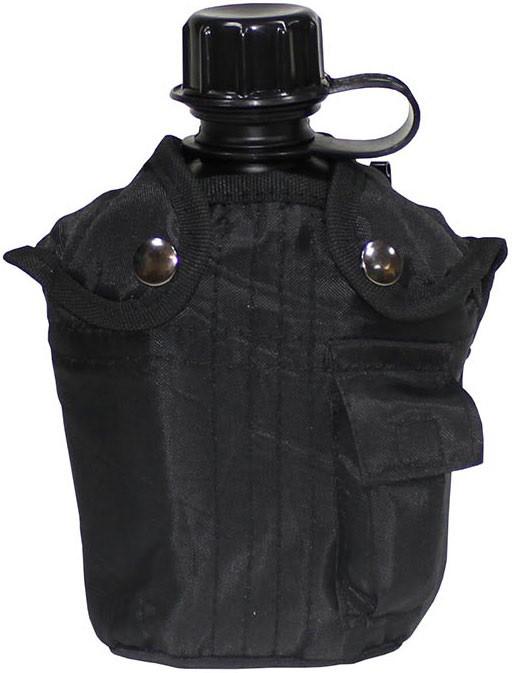 Пластиковая фляга 1л с чехлом, MFH 33213A