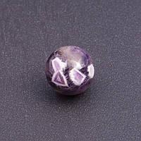 Сувенир шар из натурального камня Аметист d-2см