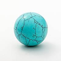 Шар сувенир из камня Бирюза (пресс.)d-5см