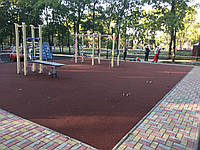 Резиновое покрытие Текинг Кидс Color для детских площадок