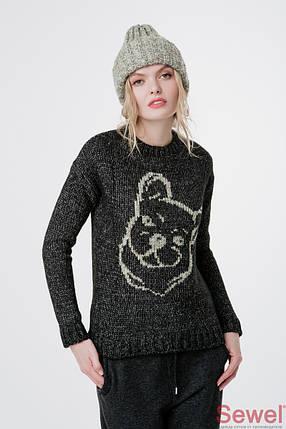 Женский вязаный теплый свитер , фото 2