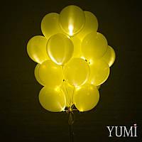 Связка из 20 желтых светящихся шаров