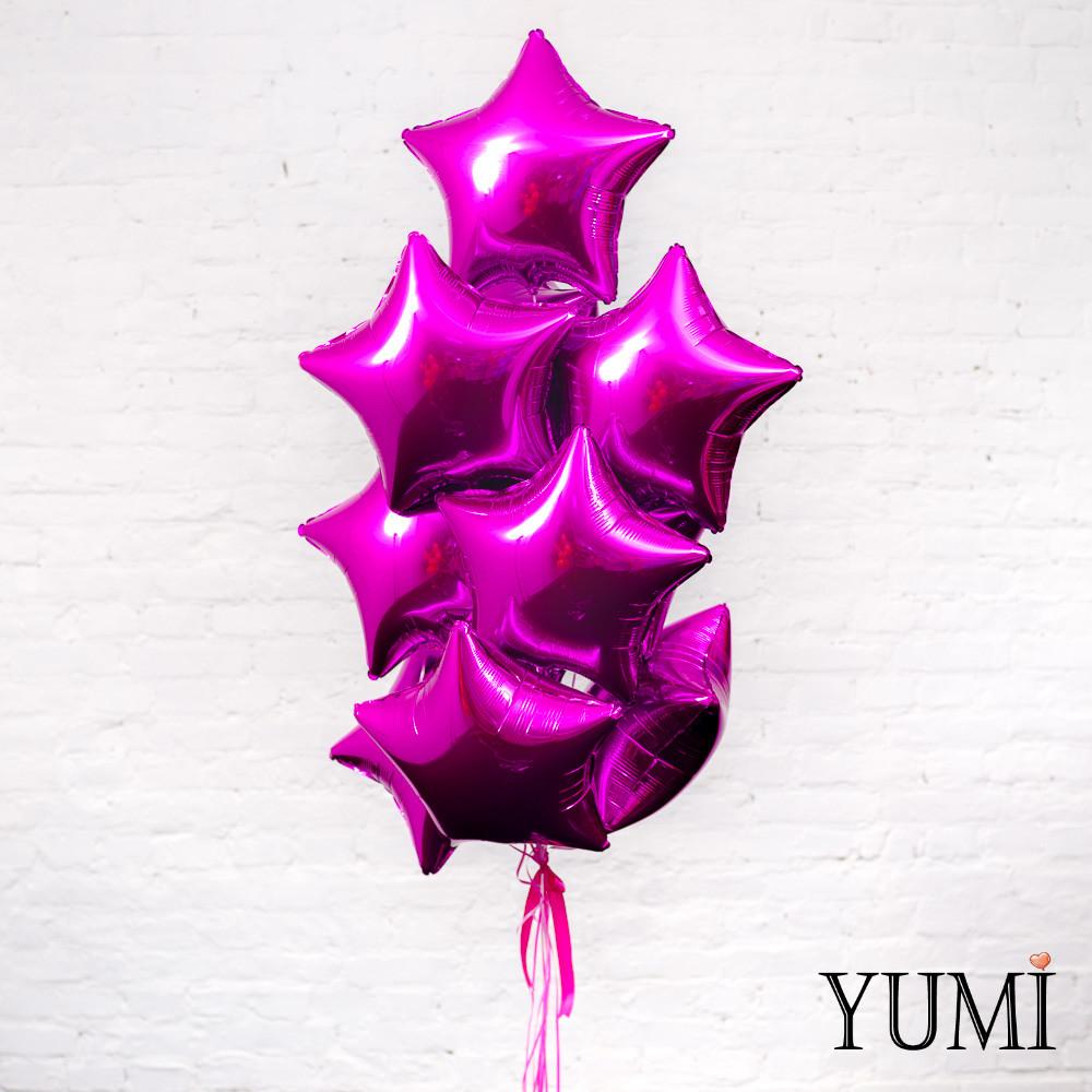 Фонтан из фольгированных шаров с гелием