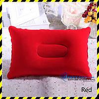 Дорожная надувная подушка прямоугольной формы, red