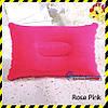 Дорожня надувна подушка прямокутної форми Silenta, rose pink