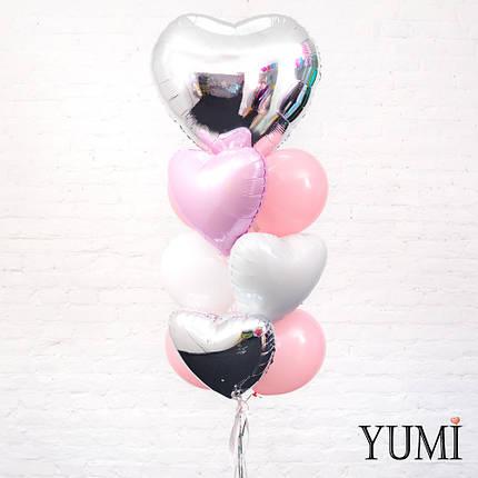 Нежная композиция из шариков с гелием для девушки, фото 2