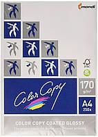 Цветная копировальная бумага с лазерным покрытием, глянцевая, 170 г / м2, A4, 250 листов