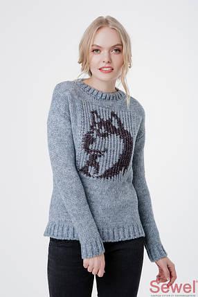 Модный вязаный женский свитер , фото 2