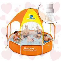 Bestway 56432 (244х51см) с навесом и душем каркасный круглый бассейн