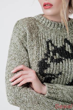 Зимний вязаный женский свитер , фото 2