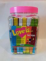Жевательная конфета Love is  с татуировкой 40 шт./б.