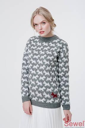 Модный вязаный свитер женский, фото 2