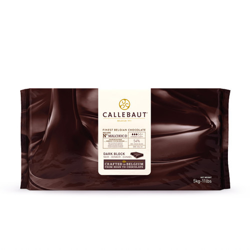 Barry Callebaut MALCHOC-D-123 Темний шоколад без цукру 54 % (Блок 1 х 5 кг)