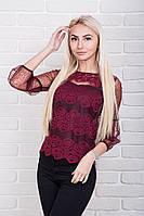 Роскошная женская блуза из гипюра p.42-48 AR84300-2