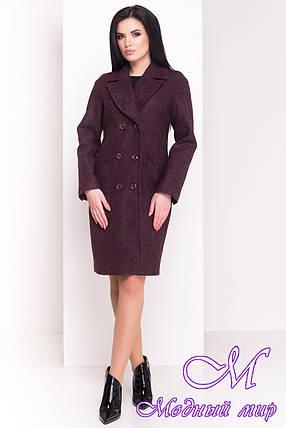 """Женское весеннее пальто цвета марсала (р. XS, S, M, L) арт. """"Джи-Джи 4454"""" - 21330, фото 2"""