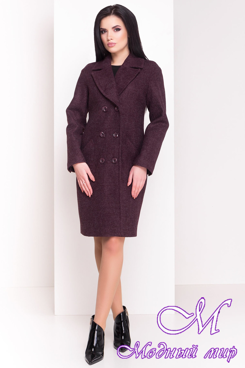 """Женское весеннее пальто цвета марсала (р. XS, S, M, L) арт. """"Джи-Джи 4454"""" - 21330"""