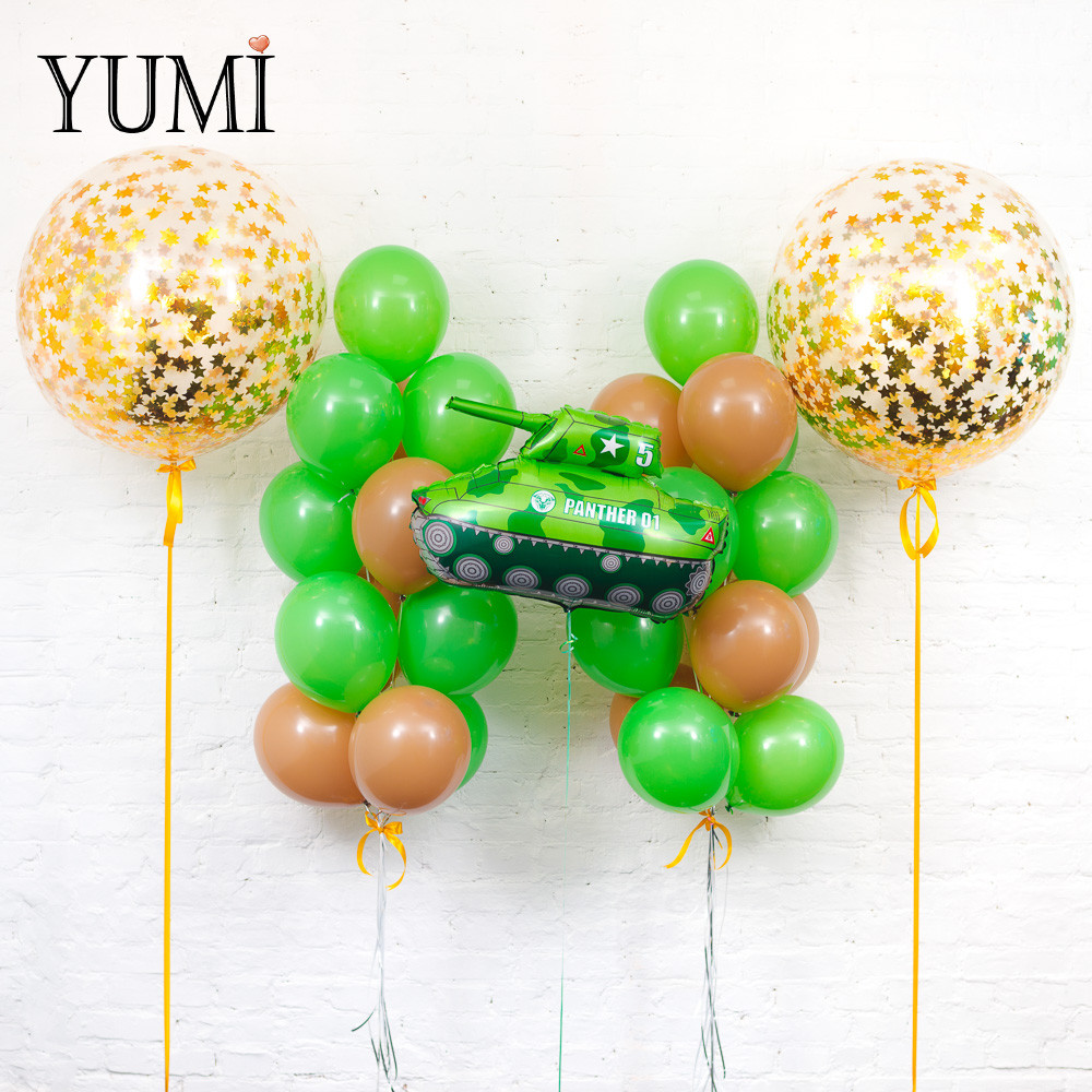 Оформление из воздушных шаров для мальчика
