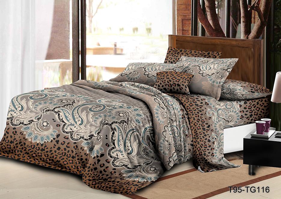 Семейный  комплект постельного белья из полиэстера Клеопатра (100)