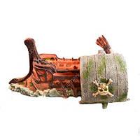 Декор в аквариум Керамика Пиратская ладья  27,5*9,5*14см