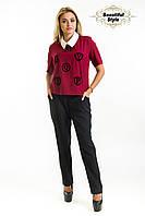 Женская блузка с коротким рукавом Шерри