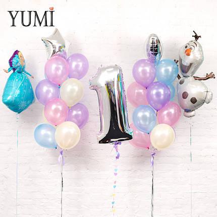 """Композиция из воздушных шаров в стиле """"Холодное сердце"""", фото 2"""