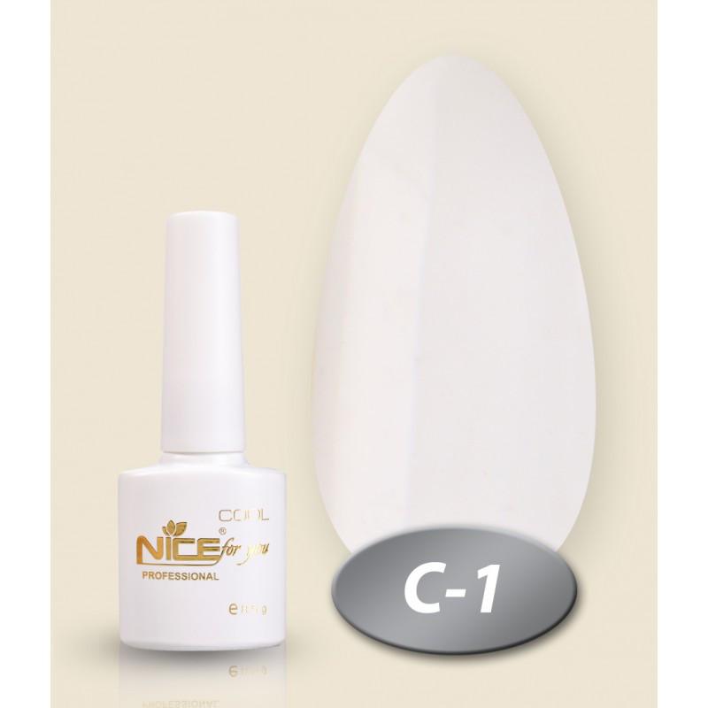 Гель-лак Nice for you Professional 8,5 ml №С01 - белая эмаль